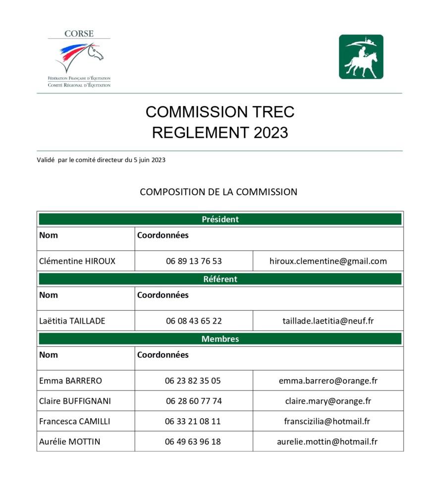 Commissions et règlements