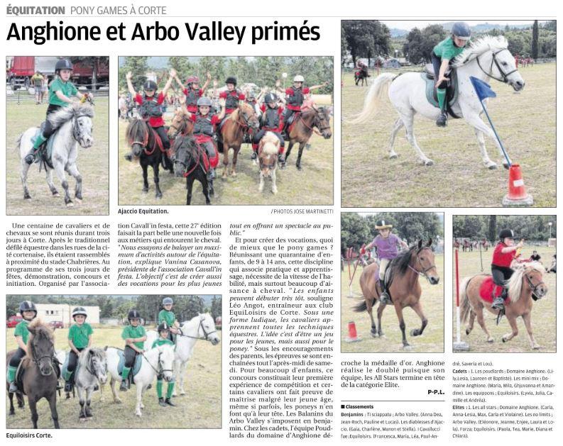 Coupe de Corse Pony-Games - 8 juin 2019 - Corte
