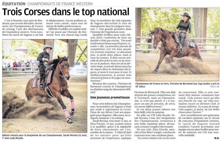 Championnats de France Western 2019