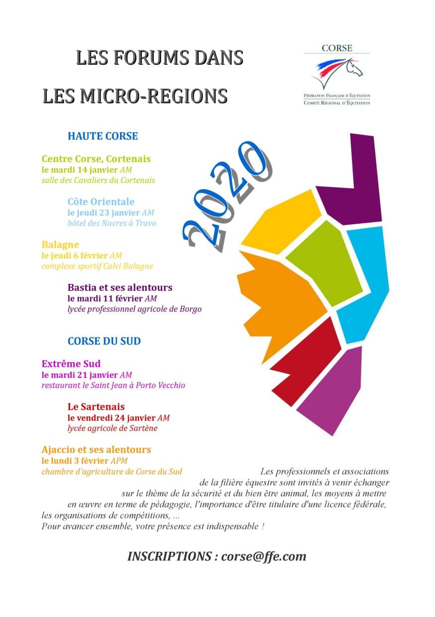 les Forums dans les Micro-régions