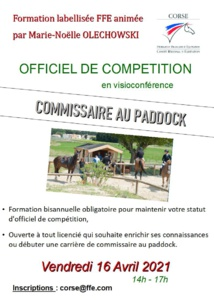 ODC Commissaire au paddock