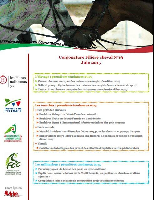 IFCE - Observatoire Economique et Social du Cheval - Juin 2015