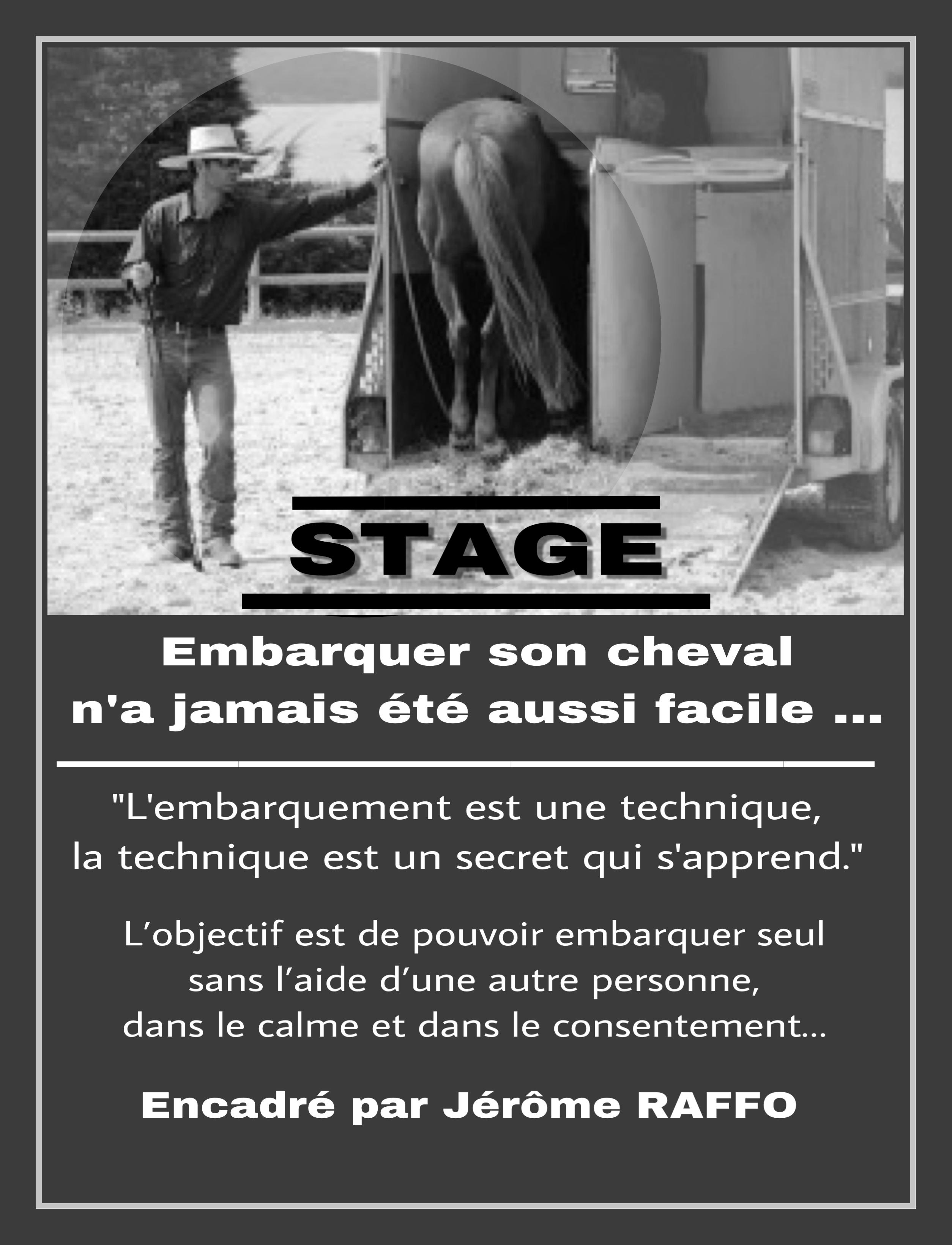 Stage Jerôme Raffo - L'embarquement