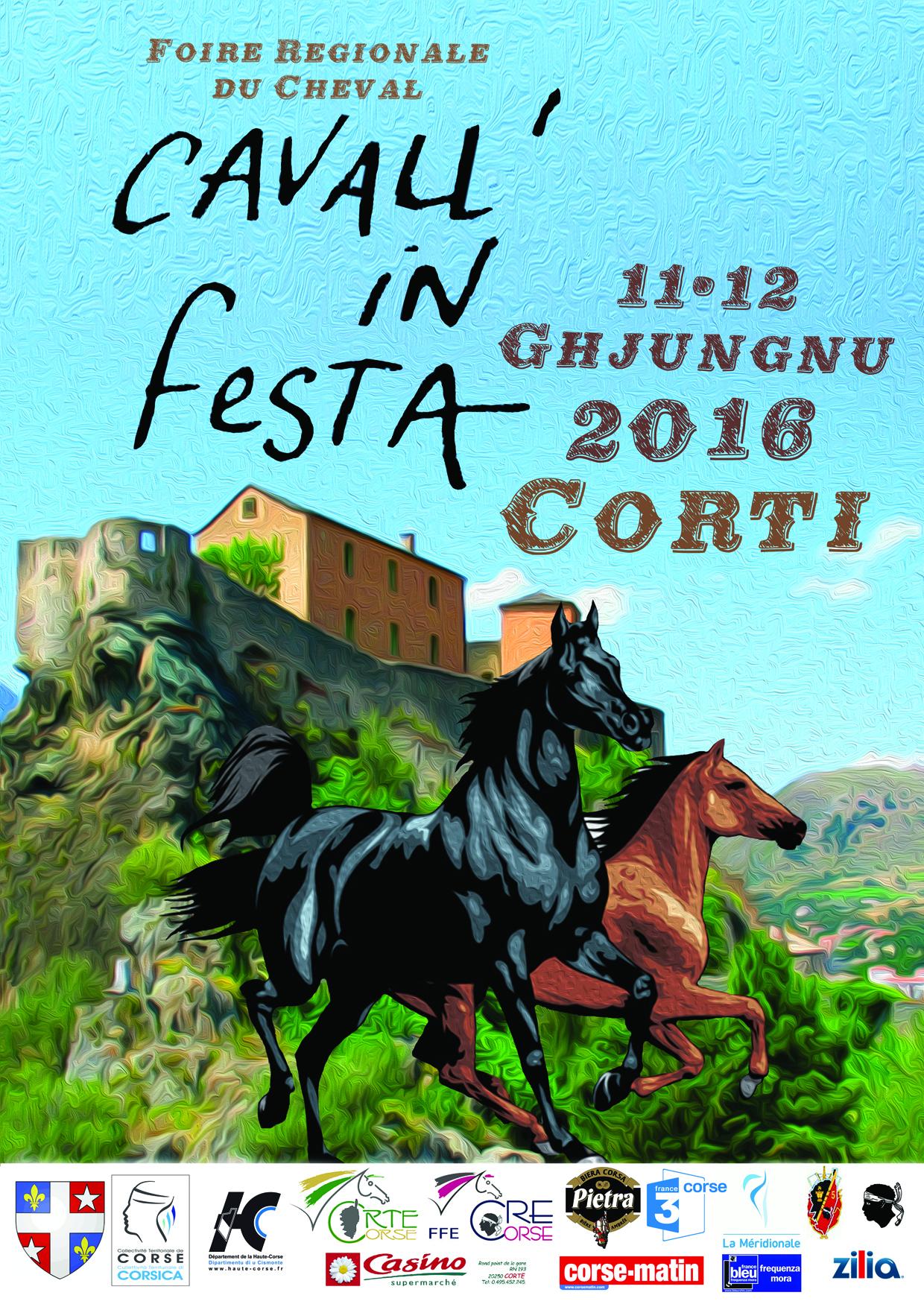 CAVALL'IN FESTA - Foire régionale du cheval - et COUPE DE CORSE de Pony-games les 10, 11 et 12 juin 2016 - Corte + concours Hunter à Furiani