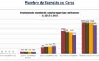 Statistiques 2014-2016 Corse