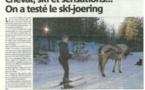 Cheval, ski et sensations...ski-joering dans le Niolu